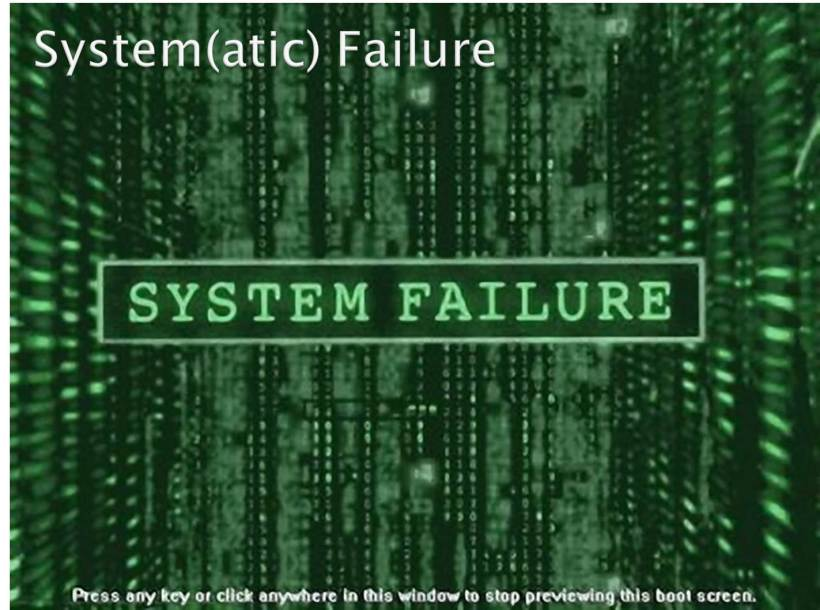 Why DevOps - Systematic failure